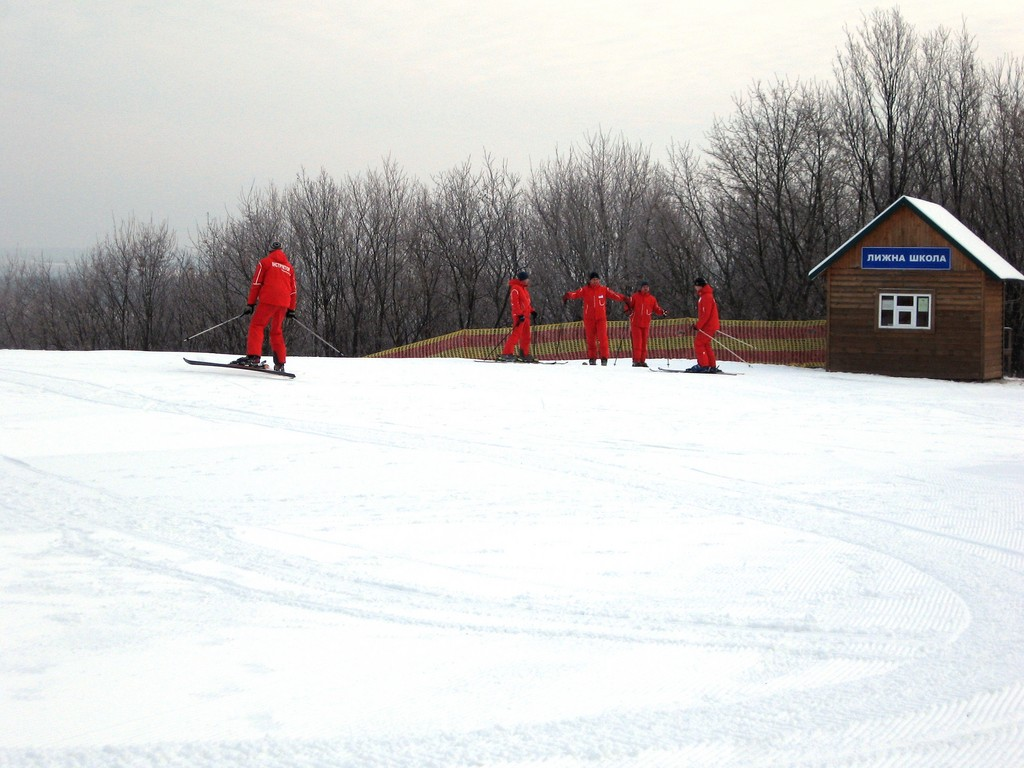 Лыжная школа новички